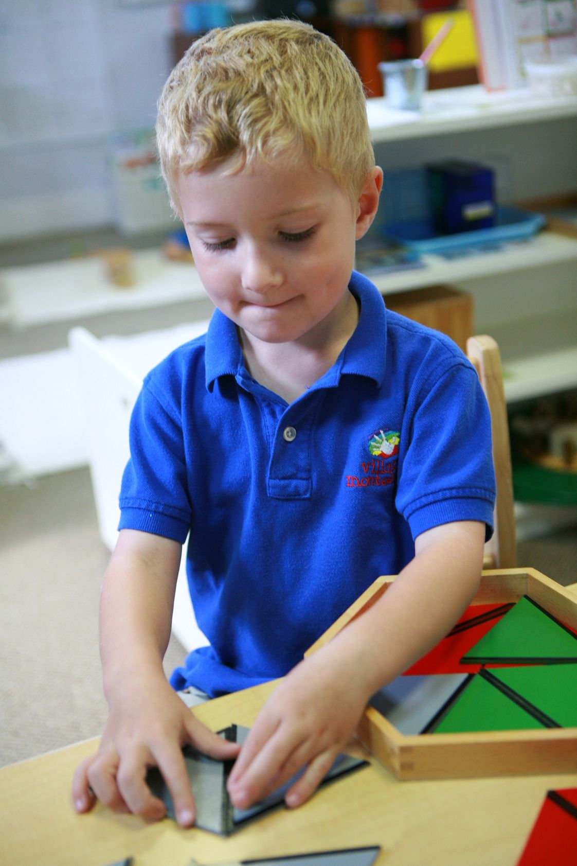 Village Montessori Day School Photo #1 - Constructive Triangles