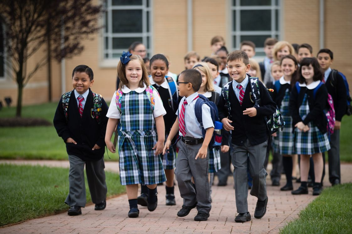 Our Lady Of Hope Catholic School Photo #1 - Students arriving to school in the morning