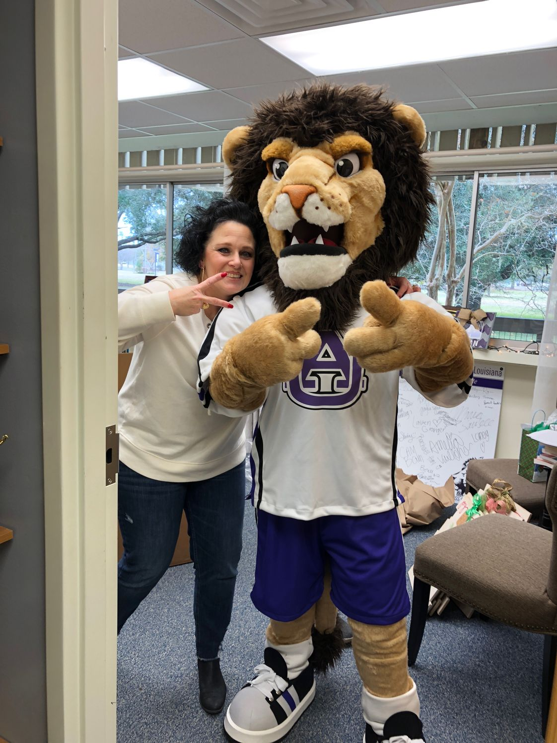 University Academy Of Cenla Photo - Our famous mascot-LEO!