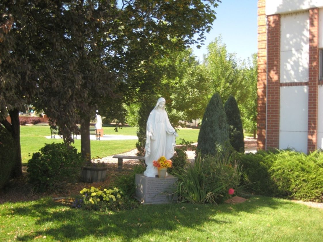 Assumption Catholic School Photo - This is the Mary statue that sits out front of the school! There is a wonderful May Crowning where we honor Mary during the month of May!