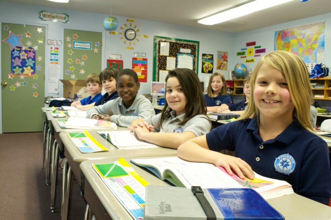 Epworth Christian School Photo - Third grade gets prepared for a test.