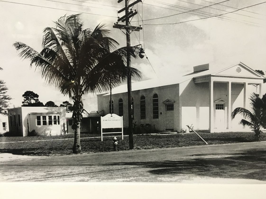 Bethany Christian School Photo - Bethany Presbyterian Church was founded in 1941. It was one of the first preschools and Kindergarten programs in the Fort Lauderdale area. This building still stands today and houses an updated gymnasium, and the school front office. A couple of our teachers are even direct relatives to Ivy Cromartie Stranahan, Fort Lauderdale's very first school teacher.