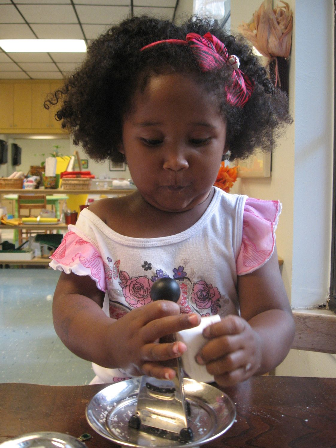 Palm Harbor Montessori Academy Photo - Child doing a Practical Life Activity