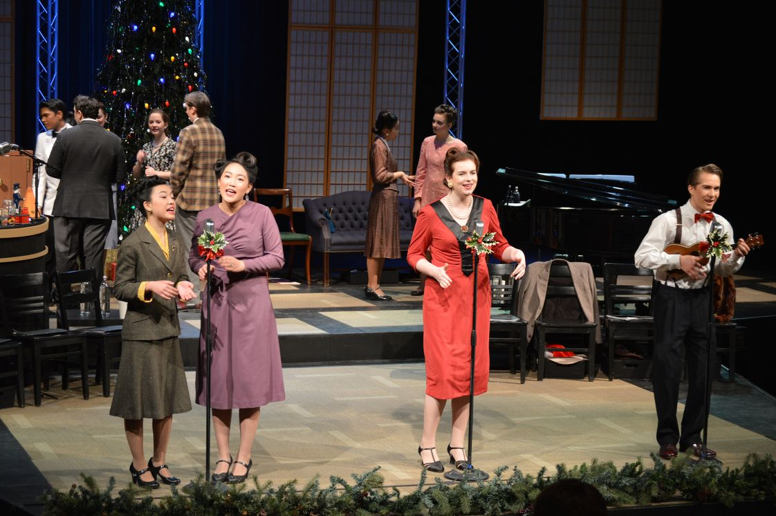"Christian Heritage Academy Photo #1 - CHA students participate in many Fine Arts opportunities, including visual arts, choirs, band, orchestra, and theatre. Our 2017 stage production of ""It's a Wonderful Life - a Live Radio Show"" captured the behind-the scenes pathos and joys of this beloved story, staged as a 1940's live radio production."