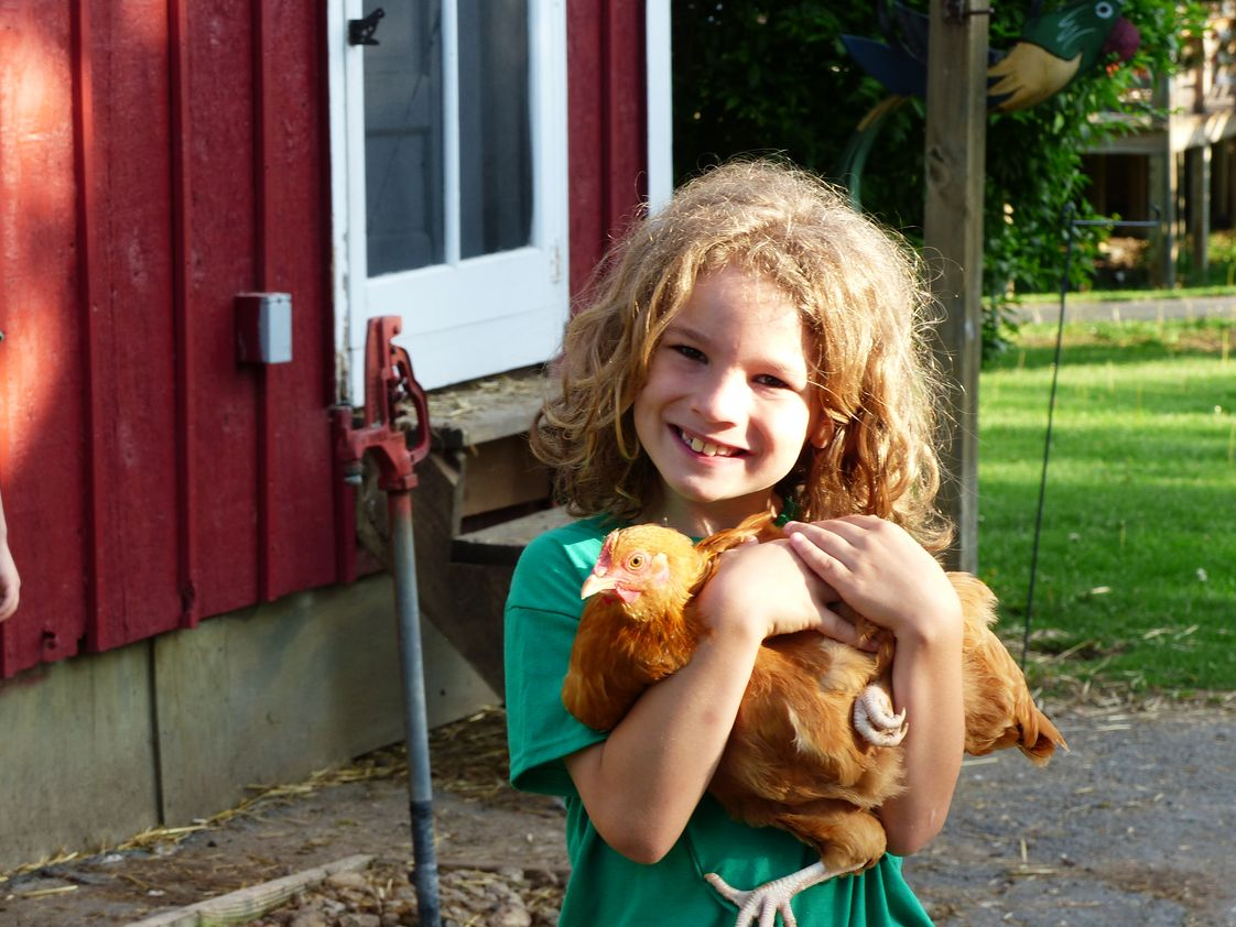 Joliet Montessori School Photo #1 - An elementary student enjoys an overnight field trip to The Country Experience.