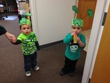 Our preschool children having a good time during St. Patrick's day.