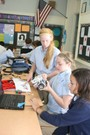 St. Gabriel School Photo - St. Gabriel's middle school students working on a Lego-robotics project.