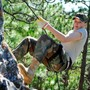 Lyman Ward Military Academy Photo #4 - Cadet Carpanelli from California, rappelling at Smith Mountain.