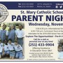 St Mary Catholic School Photo #1 - Join us for Our upcoming Parent Night!