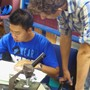 Apple Valley Christian School Photo #3 - International Students studying for Biology