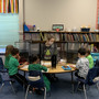 St. Cletus Elementary School Photo - Kindergarten working in small groups for reading.