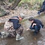 Trinity Lutheran School Photo #3 - The 7th and 8th Grade classroom conducting a stream study.