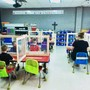 Immanuel Lutheran School - Olivette Photo #2 - an example of our Kindergarteners at their tables with our re-opening precautions in place of table dividers and face masks.