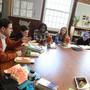 Riverdale Country School Photo #4 - An Upper School English class gathers around a Harkness Table