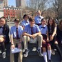 Academy Of St. Joseph Photo #3 - Eighth graders enjoy a gorgeous day in Washington Square Park to work on their writing