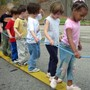 Lucy Daniels School Photo #6 - Young children practice their balancing skills as part of a nature walk
