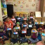 Salem Academy Christian Schools Photo #3 - First Grade students with their new tablets