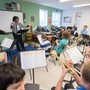 Chesapeake Bay Academy Photo - As an integral part of the curriculum, music is introduced through general music classes to students in kindergarten and continues through grade 9. Music history and theory are supplemented by work with small instruments and vocal training. By grade 6, students have the opportunity to take part in our band program.