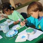 Green Hedges School Photo #6 - Montessori friends have Art outside.