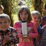 Live Oak Waldorf School Photo #1 - 1st-graders on campus.