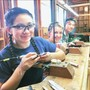 Midland School Photo #10 - Students in Metals & Jewelry class prepping wax forms to cast in silver and bronze. Additional electives in the visual arts include Representational Drawing, Introduction to Painting, Beginning & Advanced Ceramics, and Advanced Art.