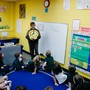 Whitefield Academy Photo #9 - Our Little Lions begin their school careers learning cursive, phonograms, time-telling, simple math, and how to behave in a classroom.