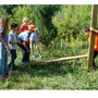 Nature's Classroom Montessori Photo - Nature's Classroom Institute and Montessori School students building a new boardwalk.