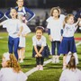 Calvary Chapel High/maranatha Christian Academy Photo #4 - Here we see how our High School cheerleaders are able to coach our elementary cheerleaders at the big football game.