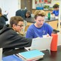 St. Joseph Catholic School Photo #5 - Students work with their Chromebooks in the science lab.