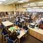 The Harker School Upper School Photo #3 - The Harker School's middle school library is home base for students. Our libraries feature full-time librarians and hundreds of resources, including online reference databases.