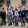 Our Lady Of Hope Catholic School Photo - Students arriving to school in the morning