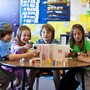 "Denver Jewish Day School Photo #2 - Kindergartners with their 5th grade ""Hebrew lunch buddies."" Cross grade collaborations help build academic skills and character."