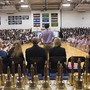 "King School Photo #6 - Head of student council greeting the entire student body during our annual ""Ringing of the Bells"" ceremony."