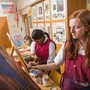 Sacred Heart Academy Photo - Students learn to work with many painting media such as acrylic, oil, and watercolor in this course that covers painting, design and visual concepts.